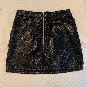 NWT Wild Honey / ASOS black sequin skirt